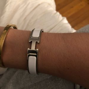 Authentic Hermès H Clic Clac bracelet